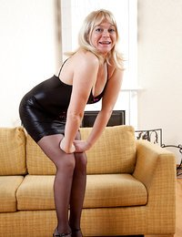 Naughty blonde milf wears..